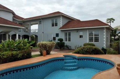 5 BEDROOM HOUSE WITH 2 ROOM OUTHOUSE FOR RENT AT EAST LEGON