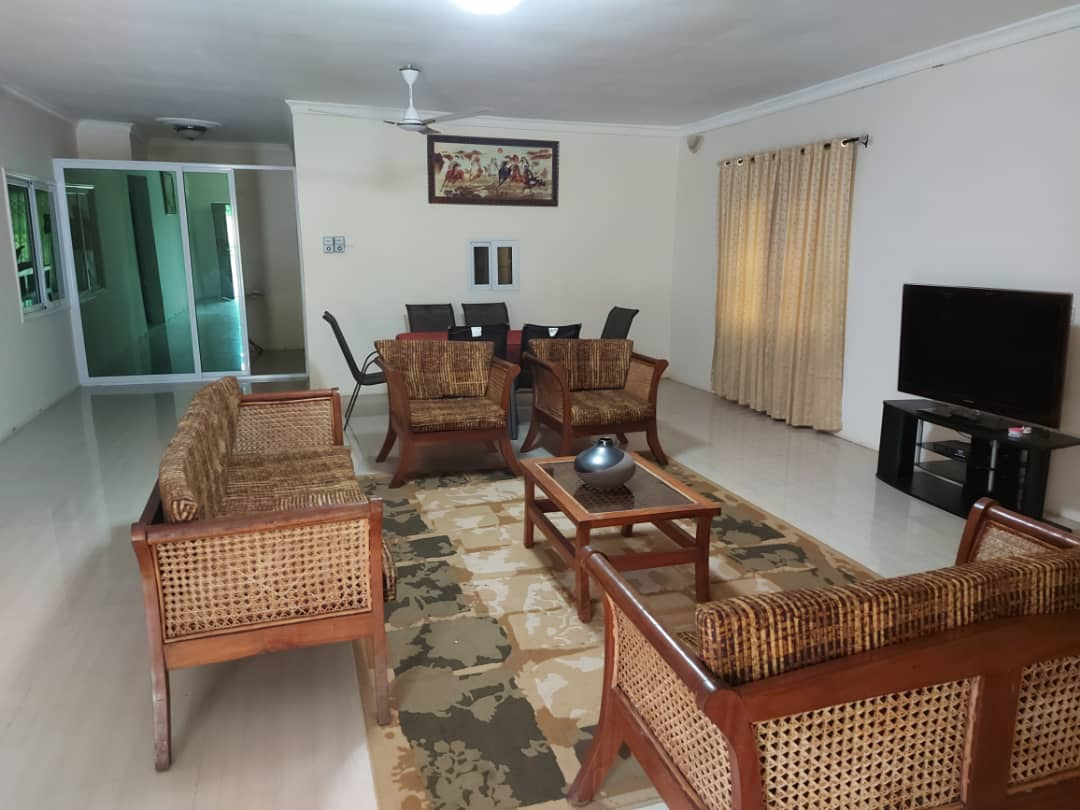 Furnished 3 bedroom house with 1 bedroom outhouse for rent