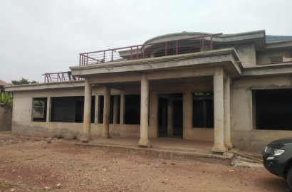 An Uncompleted 6 Bedroom House with Two Bedroom Staff Quarters for Sale