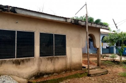 Uncompleted 3 Bedroom House with ensuite 4 Room Boys' Quarters for sale